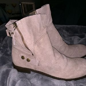 Nine West Taupe Slouchy Booties